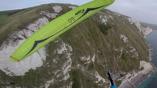 Paragliding at Ringstead crash into cliff!