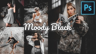 How to Edit Moody Black in Photoshop | Moody Dark | Moody Black Preset