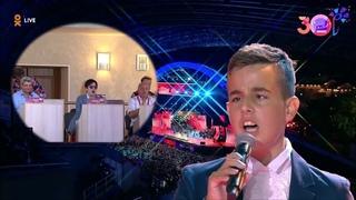 "Dimash Димаш - Bravo! 13 years old Komnen VUKOVIĆ challenging Lara Fabian's song ""Je T'aime"""