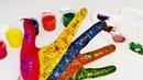 Красим ручку, учим цвета. Песенка про пальчики.Пальчиковые краски. Развивающее видео. Играем вместе.