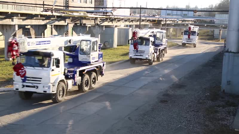 Отгрузка автокранов в ПАО Сургутнефтегаз